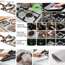 Reusable 4pcs Gas Range Protector Hob Liner Stove Top Protectors Kitchen Tool JJ