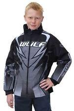 Nueva Chaqueta Negra Niños Wulfsport Motocross Ensayos Quad ATV Jóvenes Niño Chicos Abrigo