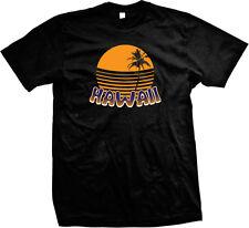 Hawaii Sunset Sunrise Palm Tree Beach Vacation Aloha State Pride Mens T-shirt