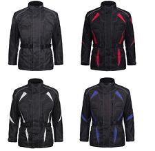 Motorradjacke Cordura Textil Roller Quad Biker Schwarz Rot Weiß Blau  M bis 4XL