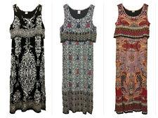 Bila Crinkle Maxi Full-Length Boho Popover Dress Size S,M,L,XL (3 colors)