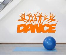Vinyl Wall Decal Dance School Studio Logo Cartoons People Dancers Sticker 2018ig