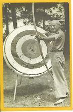 Real Photo Postcard RPPC - Archer Bow Arrow & Target