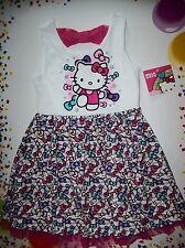Hello Kitty Dress Girls Sanrio Bow Mania Size 2T, 3T, 4Toddler Multi