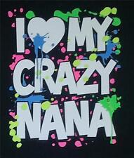 Love my crazy Nana KIDS Light Blue TEE Sizes 6 months -24 months