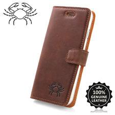 Surazo ® premium maletín de cuero auténtico cuero nuez TPU TV funda bolsa cartera Case