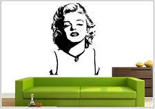 Wandtattoo wandaufkleber wandsticker photo  Porträt Marilyn Monroe wph10