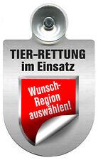 Alu Schild Einsatzschild fuer Windschutzscheibe Tier Rettung im Einsatz 393838