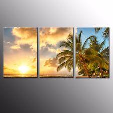 Large Canvas Art Print Beach Sunset Wall Art Canvas Painting Wall Decor-3pcs