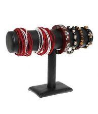 Porte bijoux support bracelet montres jonc en simili cuir à 1 rang