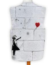 Novelty Banksy Waistcoat Fun Fancy Dress Informal Wacky Party Heart Balloon