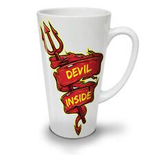 DEVIL INSIDE Divertente Slogan New White Tea Tazza Da Caffè Latte Macchiato 12 17 OZ   wellcoda