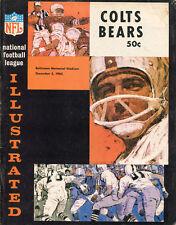 1965 Chicago Bears v Baltimore Colts Program Ex Condition