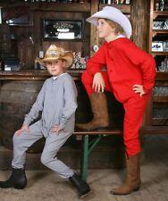 Enfants Long ski Sous-vêtements Une pièce Western Cowboy Long John Coton