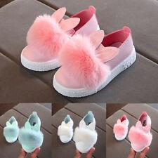 Child Toddler Kid Baby Fur Sneaker Girl Cute Bunny Soft Anti-slip Single Shoes T