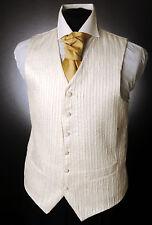 """W - 563. pour hommes / garçons ivoire """"volants"""" écorce effet gilet de Mariage / Robe / Costume"""