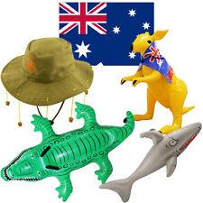AUSTRALIAN AUSTRALIA DAY FANCY DRESS DECORATION PARTY SET FLAG HAT INFLATABLE