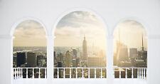 Fototapete Selbstklebend New York Fenster Rundbogen Loft - Made in Germany -