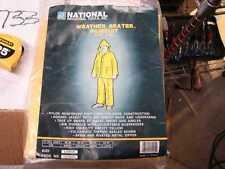 National 2 piece yellow rainsuit Large 162005 with hood rain suit