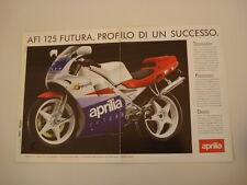 advertising Pubblicità 1990 APRILIA AF1 AF 1 125 FUTURA