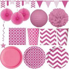 Rosa Party Deko pink Mädchen Hochzeit Sommerfest Kinder Geburtstag Dekoration
