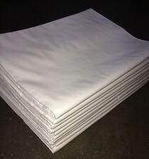 2-60x Bettlaken 160x295 cm 175 g/m² weiß Baumwolle *Hotel-Qualität* ohne Gummi