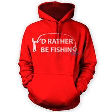 Preferisco ESSERE PESCA Felpa con cappuccio-x12 Colori-Divertente Carpa Pesca Sportiva regalo hobby
