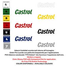Adesivi prespaziati castrol sticker sponsor helmet tuning  moto 2 pz. cm. 20