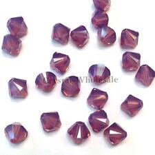 8mm Cyclamen Opal (398) Genuine Swarovski crystal 5328 / 5301 Loose Bicone Beads