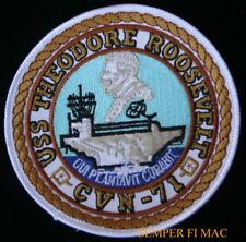 USS THEODORE ROOSEVELT CVN71 PATCH US NAVY PIN UP GIFT Big Stick TR Rough Rider