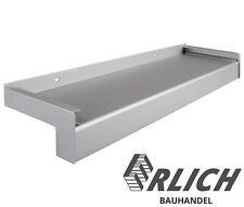 Aluminium Fensterbank Außen Silber Eloxiert EV1 50-225mm inkl Alu Putz-Abschluss