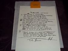 THE BEATLES HAND WRITTEN LYRICS TO JOHN LENNON'S IN MY LIFE