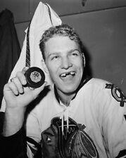 1960s Chicago Blackhawks BOBBY HULL Glossy 8x10 Photo NHL Hockey Print 50th Goal