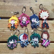 Rare My Hero Academia Bakugou Katsuki Kaminari Denki Rubber Keychain Strap Cute