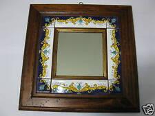Specchio  cornice di legno anticata classico Deruta 2.