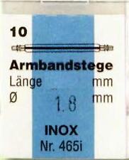 armbandsteg POMPE Barrette à ressort acier inox 1,8mm 13 jusqu'à 24 mm Pack Á