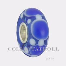 Authentic Trollbeads Silver Single Malawi Bead MK55    65299