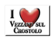 CALAMITA EMILIA ROMAGNA MAGNETE SOUVENIR I LOVE VEZZANO SUL CROSTOLO (RE)
