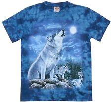T-Shirt: Heulender Wolf,Wölfe+Mond,Gr. XXXL, 3XL,Biker Indianer,Cowboy,Zoo Husky