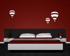 Wandtattoo Ballon 'Madame Thible' 3er Set 25 Farben 6 Größen Wandaufkleber Deko