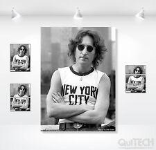 John Lennon - 15 - Quadro stampa su Tela Pelle Canvas Dipinto Arte Moderna
