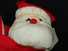 NEW VINTAGE SANTA CLAUS CLIMBING A CANDY CANE PARA CUTES CHRISTMAS PLUSH TOY