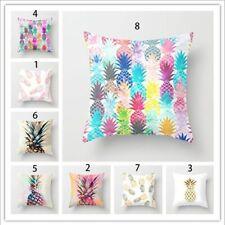 Tropical Fruit Pineapple Cotton Cushion Covers Throw Pillow Case Sofa Home Decor