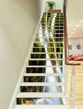 3D Mosses Streams 1 Stair Risers Decoration Photo Mural Vinyl Decal Wallpaper AU