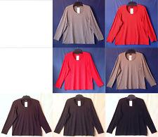 Samoon Shirt by Gerry Weber Basic Viskose Stretch langarm Satinpaspel Damen Gr.