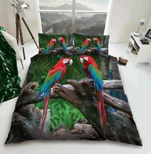 3D Parrot Duvet Cover Bedding Set Double King Size Quilt Cover Set