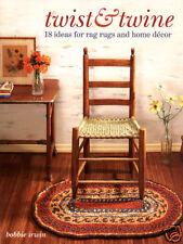 Twist and Twine book, Bobbie Irwin, twined rag rugs twining
