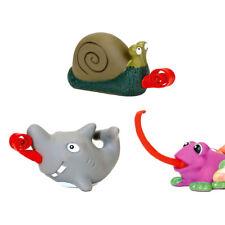Gummi-Tier mit rollender Zunge Quetschball Scherzartikel Antistress Frosch Hai