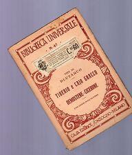 plutarco vite tiberio caio gracco demostene -biblioteca universale sonzogno-1930