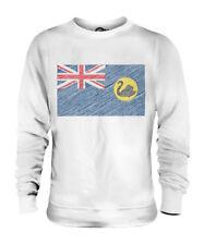 WESTERN AUSTRALIA SCRIBBLE FLAG UNISEX SWEATER  TOP GIFT AUSTRALIAN FOOTBALL
